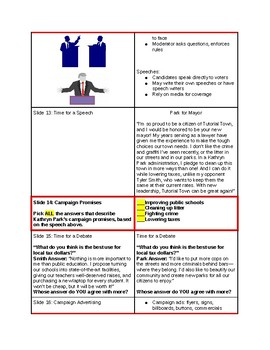 Tutorial - Evaluate the Candidates:  Who Will You Choose - Study Guide & Ans Key