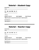 Tutorial Hand Out- Tutoring