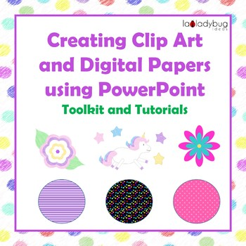 Tutorial: How to create clip art and digital papers with PowerPoint. {50% OFF}