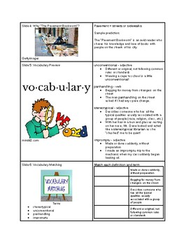 Tutorial - Language Arts - The Pavement Bookworm - Study Guide & Answer Key