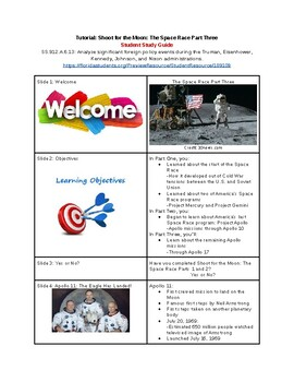 Tutorial - Shoot for the Moon - The Space Race, Pt. 3 - Study Guide & Answer Key