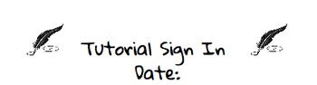 Tutorial Sign In Sheet