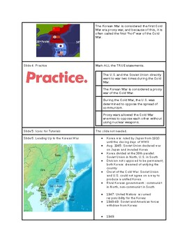 Tutorial - The Cold War Turns Hot: Remembering the Korean War - Study Guide