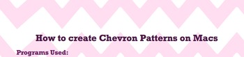 Tutorial for Chevron Patterns on Macs [Includes Free Samples]