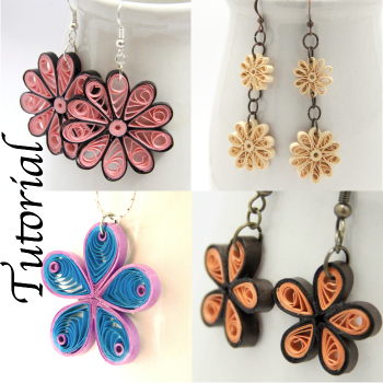 Tutorial for Paper Quilled Flowers for Projects