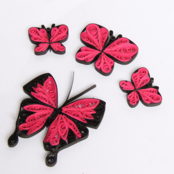 Tutorial for Paper Quilling Butterflies Project