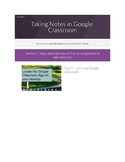 Tutorial on Taking Notes in Google Classroom