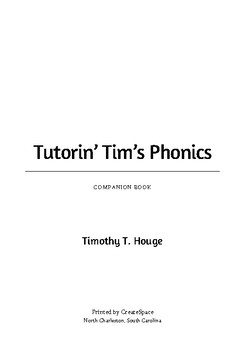 Tutorin' Tim's Phonics: Companion Book