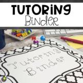 Tutoring Binder {Black and White}