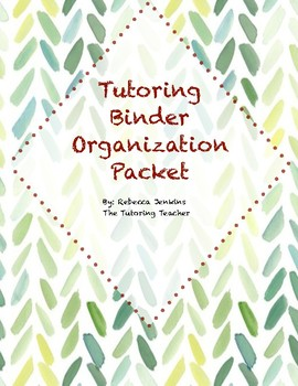 Tutoring Binder Organization Packet