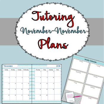 Tutoring Binder {Winter Version}