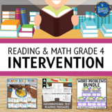 Reading and Math Intervention Bundle 4th Grade