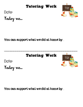 Tutoring Contract and Work Update