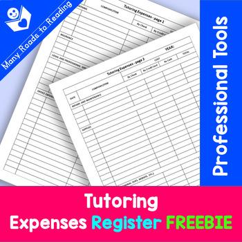 Tutoring Expenses Register FREEBIE {Professional Tools}