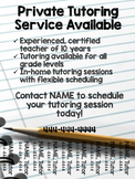 Tutoring Flyer (Lined Paper Theme), Editable