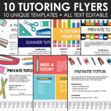 Tutoring Flyer Templates - 10 Editable Posters (A)