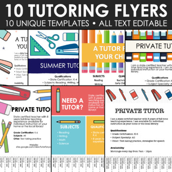 Tutor Flyer Worksheets Teaching Resources Teachers Pay