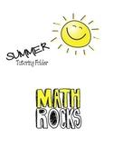 Math Tutoring Folder (Summer)