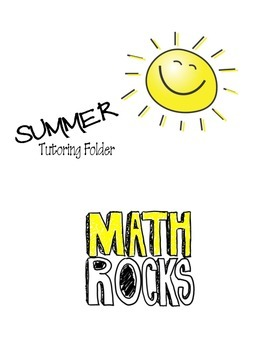 Math Tutoring Folder (Summer)