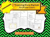 Tutoring Forms Packet for Private Tutors