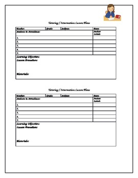Tutoring / Intervention Lesson Plan