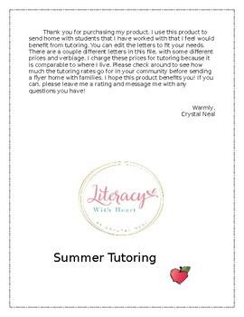 Tutoring Letter
