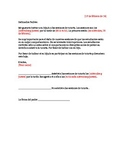 Tutoring Letter - Spanish (Editable)