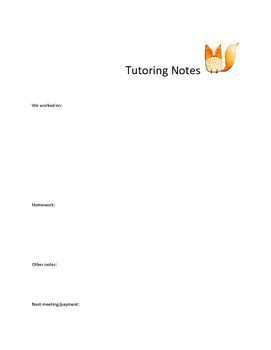 Tutoring Notes