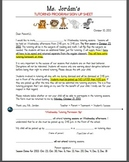 Tutoring Permission Letter and Sign Up