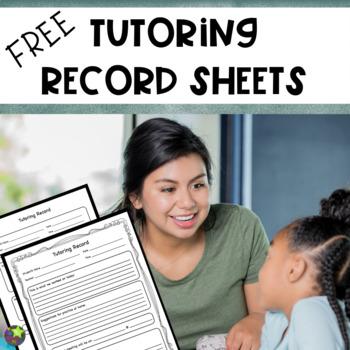 Free Tutoring Record Sheet