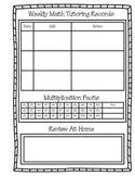 Math Tutoring Record Sheet