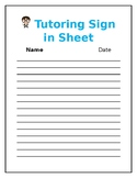 Tutoring Sign in sheet