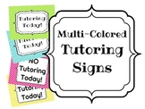 Tutoring Signs