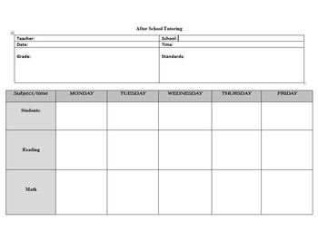 Tutoring Small Group Lesson Plan