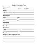 Tutoring Student Information Form