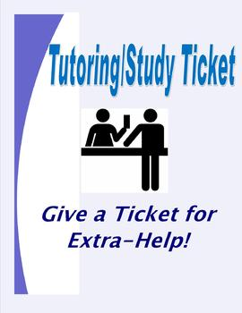 Tutoring Study Ticket: Academic Intervention for Struggling Students
