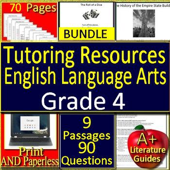 Summer Tutoring Toolkit: 4th Grade ELA Reading Tutoring Resources
