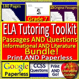 Tutoring Toolkit: 7th Grade Test Prep Tutoring Resources ELA and Reading