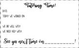 Tutoring work slips! (EDITABLE)