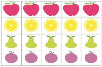 Tutti Fruitti Hands On Subtraction Math Center