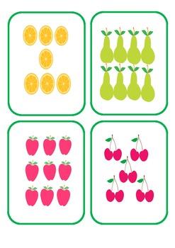 Tutti Fruitti Number Match Cards