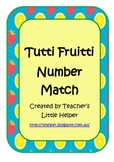 Tutti Fruitti Number Match Cards