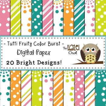 Digital Papers: Tutti Fruity Color Burst