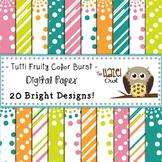Digital Papers: Tutti Fruity Color Burst