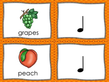 Tutti-Fruity Composition Cards - Ta, Ti-Ti and So, Mi, La and Do