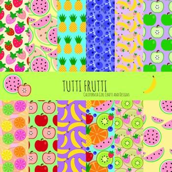 Tutti Frutti: Fruit Digital Paper/Patterns/Backgrounds - P