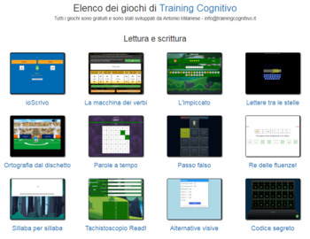 Tutti i giochi di TrainingCognitivo in un unico file