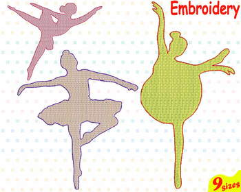 Tutu Ballet Embroidery Machine digital 4x4 5x7 hoop Stiches ballerina dance 94b