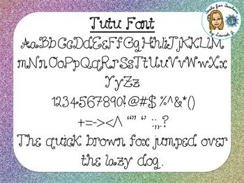 Tutu Font {True Type Font for personal and commercial use}