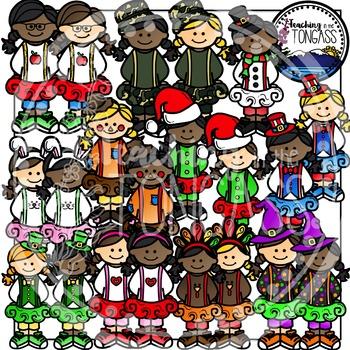 Tutu Holidays Through the Year Clipart